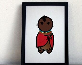 Card 023·F  Turkana woman from Kenya