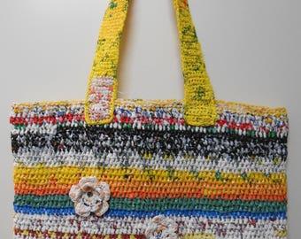 Variegated crochet bag