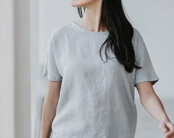 Wide Linen blouse Motumo - 15P1