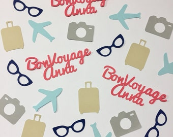 Bon Voyage Travel Party Confetti