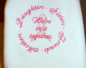 Breast Cancer Fingertip Towel - We're in it Together
