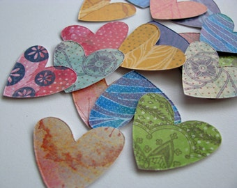 Vita Simple Heart Stickers - Planners, Journals, Snail Mail, Stationary, PL, Project Life, Card Making