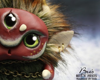 "Fantasy Creature Art Doll ~""Forest Snugglet"""
