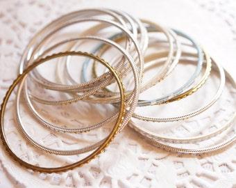 13 x Assorted Vintage Bangles Bracelets