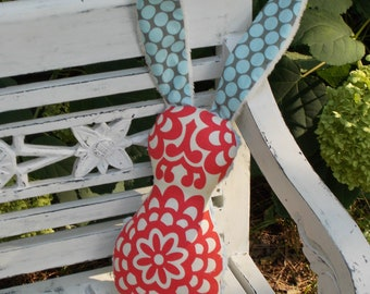 Red White and Blue Bits The Bunny Plush Rattle