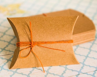 Kraft brown cardboard box Set of 10 for wedding, jewelry, gift boxes 9cm x 6,5cm x 2,4cm