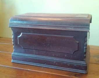Antique Domestic Coffin Box Lid