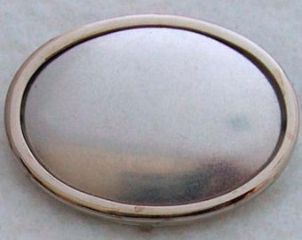 DIY Silver Oval Pin Setting Frame Mounting 104S handmade gift embroidery supplies jewellery cross-stitch