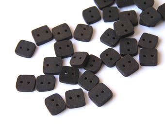 tiny walnut - clearance - tiny button pack - 14 pieces