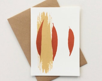 Greeting card Willow Sand-Copper