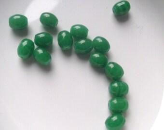 Destash Bead lot in green