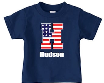 Personalized 4th of July shirt, boys 4th of July shirt, american flag shirt, personalized shirt, patriotic shirt