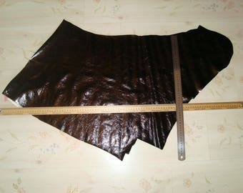 Fall leather varnished black 1 mm thick