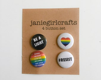 "Pride 4 @ 1"" Button Set"