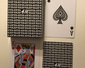 Commercial, company, H&M Plastic coated, playing cards.