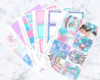 Carnival Sticker Kit (Glam Planner Stickers for Erin Condren Life Planner)