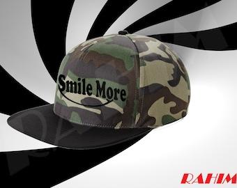Roman Atwood Smile More camo, youtuber ,Snapback, Baseball cap