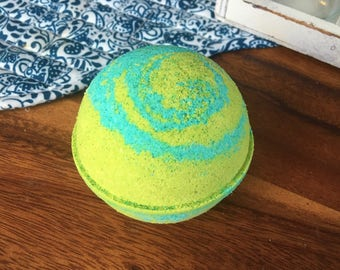 Fizzy Pop Bath Bomb Effervescent Lime Fruity Floral Bomb Natural Handmade Bath Fizzy- Mother's Day Gift