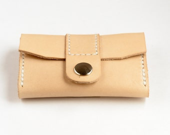 Purse leather, leather business card holder, leather portfolio, leather