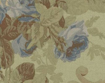 FLASH  SALE!!! Cottage Rose Prarire Blue Ralph Lauren Fabric , Fabric By The Yard