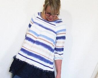 50% SALE upcycled top S - M upcycled clothing, sustainable fashion, tunic