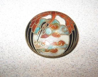 Button Enamel Bird Vintage Antique Sewing Buttons PR#138