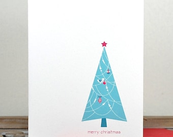 Christmas Cards / Holiday Cards / Personalized Christmas Cards - Decorating Dove