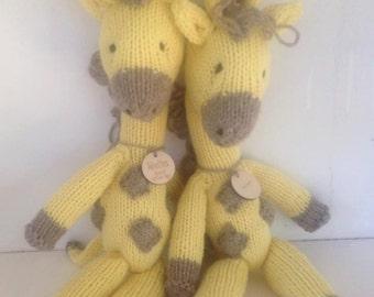 Natural Stuffed Animal - Waldorf Toy - Eco Kids Toy - Giraffe - Organic