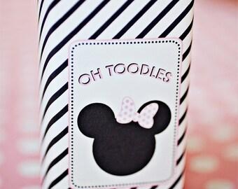 Minnie Mouse Party Juice Box Wraps/Labels