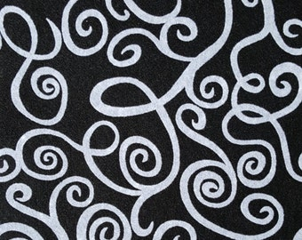 "Flocked Felt Rectangle: Swirls (9""x12"")"