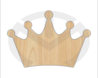Crown or Tiara - 01579- Unfinished Wood Door Hanger Laser Cutout, Door Hanger, Home Decor, Ready to Paint & Personalize, Various Sizes