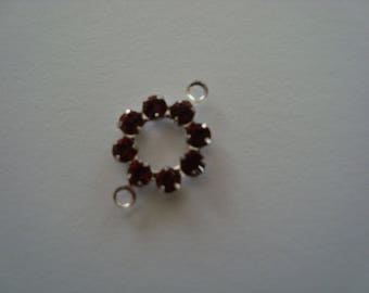 Red Crystal spacer round