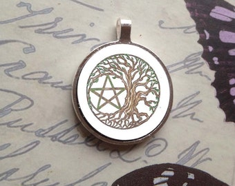 Tree Pentacle Bezel Amulet by Mickie Mueller