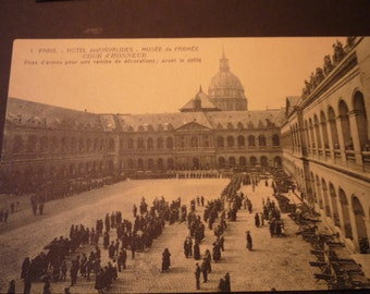 Vintage Postcard of Paris - Hotel des Invalides - Army Museum - Early 20th century original - JVoyage
