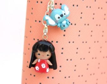 Cute Lilo & Stitch Pocket Cutie Charms - Polymer Clay Charm - Planner Charm, Bag Charm, Cellphone Charm