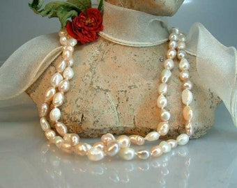 Pastel 120 cm freshwater culture pearl necklace Baroque