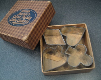 Vintage Fagley Junior Card Party Cake Cutters In Original Box