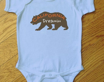 California Dreamin Bear Bodysuit