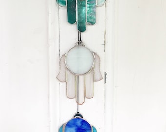 Stained Glass Hamsa