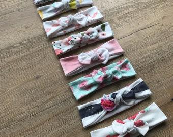 Top Knot Headband in Organic Cotton - You Choose Print