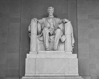 Washignton DC Art, Lincoln Memorial, Black and White Fine Art Photography, Washington DC Photography, Washignton dc skyline