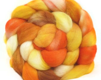 SUPERWASH MERINO roving top handdyed wool spinning fiber 3.6 oz