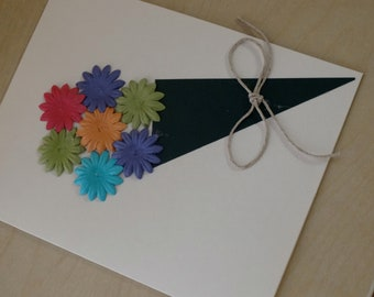 Handmade card perfect for Mother's Day featuring a green bouquet of flowers