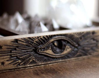 The All Seeing Eye Three Compartment Tarot Box