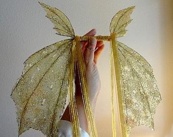 Fee Flügel-schillernde-für Kinder-auf goldene Flügel (aus auf Anfrage)
