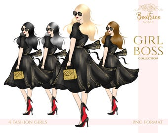 girl boss clipart chic girl clipart fashion clipart girl planner stickers fashion illustration planner girl clipart fashion girl clipart