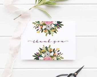 Baby Shower Thank You Cards, Thank You Notes, Thank You Card, Thank you Template, Thank Yous, PDF Instant Download #BPB328_3