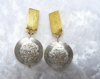 Ear clips Gold silver