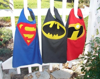 SHIPS TODAY, Superman cape, Batman cape, superhero cape, gift for kids, kids cape, birthday gift for kids, party favors