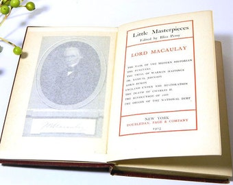 Antique Book Little Masterpieces Lord Macauley 1903
